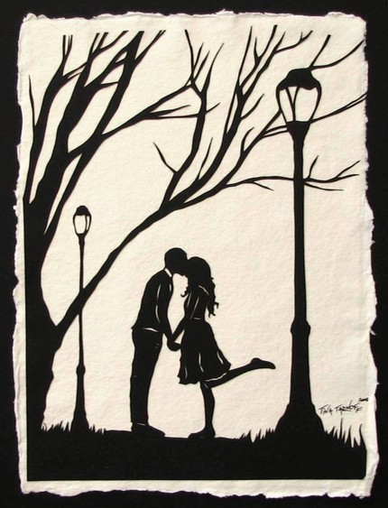 Autumn Kiss ($65) is an original papercut, a silhouette hand cut from a single sheet of paper, mounted on Indian cotton rag paper. It's such a Central Park moment — granted, a little sappy — but exquisite and very romantic.