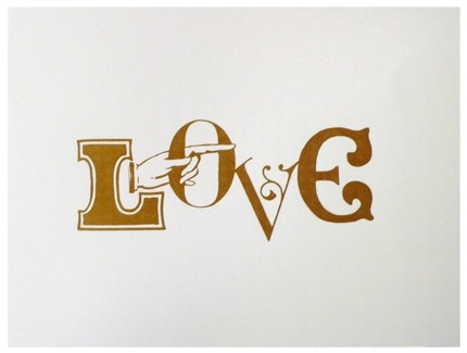 Love This Way ($18) is a handmade screenprint on white cardstock, for the typography lovers you know.