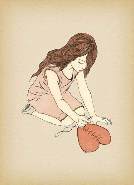 Know a heart that needs mending? Healing ($20) is a print of an original illustration by Shira Sela.