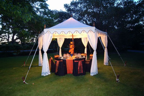 Make your outdoor space amazing with the purchase of an Indian-inspired Pergola Tent ($1,012).