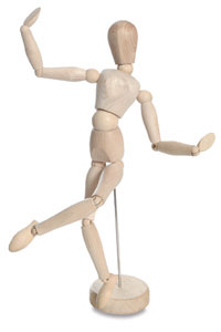 Go back to basics with a Hardwood Manikin ($4.99) and brush up on your figure drawing skills.
