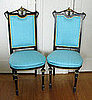 Crave Worthy: Antique Ebonized and Turquoise Silk Chairs