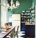 Even Drew Barrymore loves these fridges. Her eclectic office features a Big Chill in its kitchen.