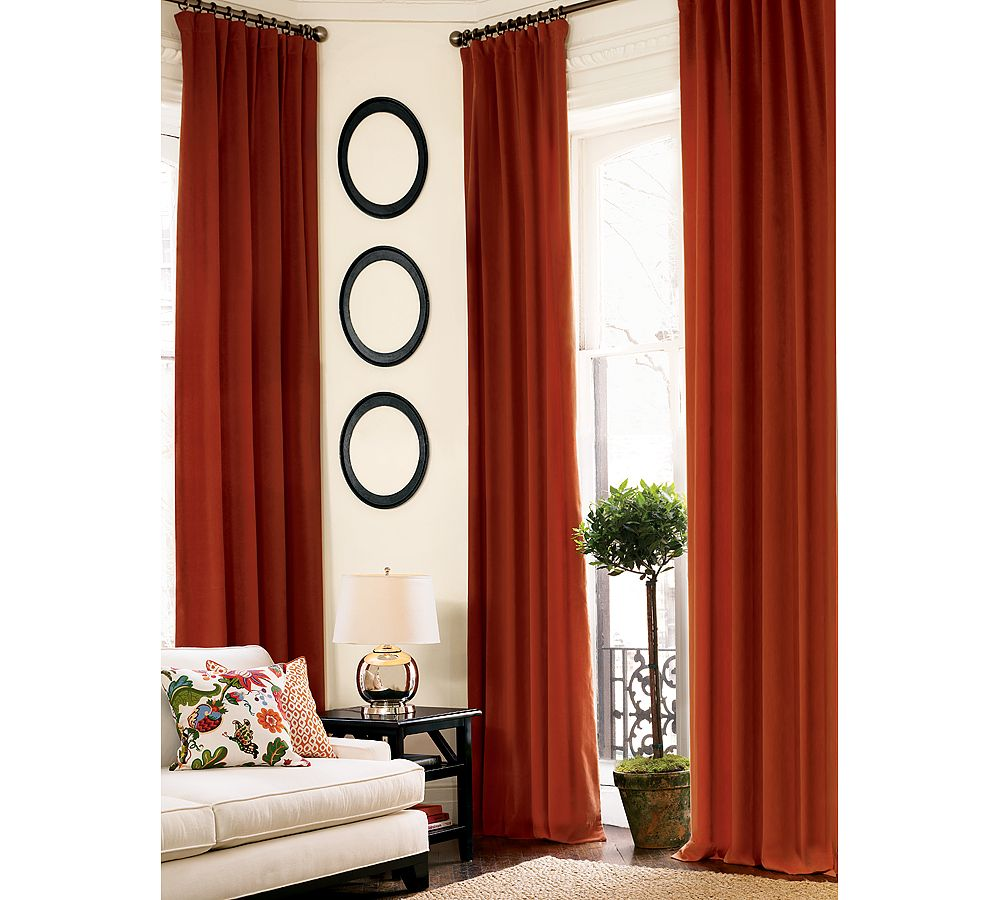 Give your home a classic warmth with the Pottery Barn Velvet Drape ($89-349). Not only is it soft and lush, made from an upholstery-grade blend of polyester and cotton, but its heft will help keep drafts from entering your home.