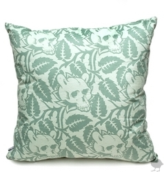 I love the leaves and skulls design on this Upper Playground Superfishal Pillow ($40).