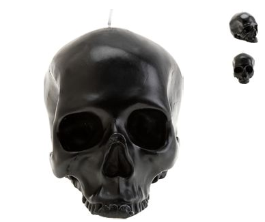 Go for goth glam with the Barneys Skull Candle ($85).