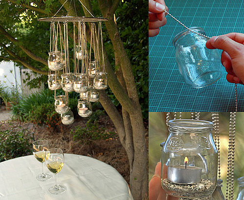 DIY: Recycled Glass Chandelier