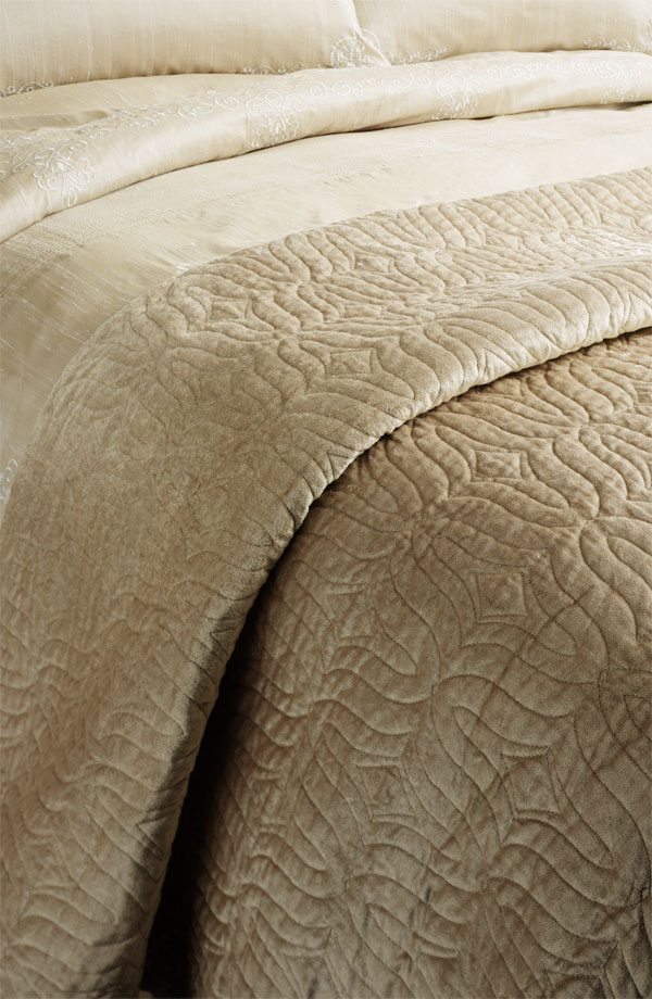 Make your bed like S with the Nordstrom Anastasia Quilted Coverlet ($298).
