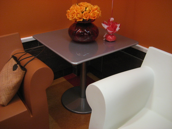Durable furniture is a must for a community room.