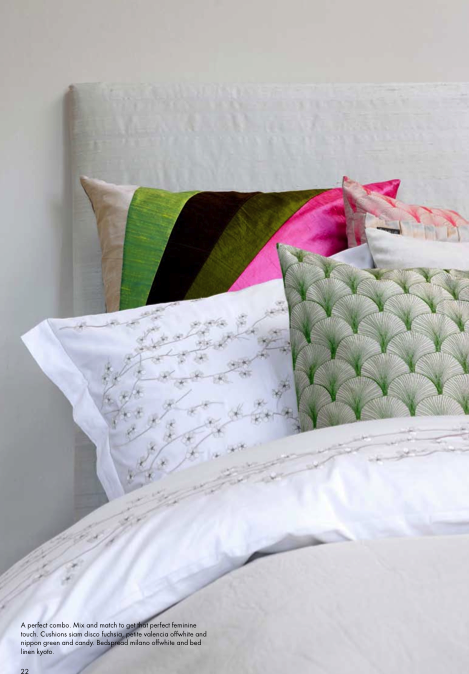 If your walls and bed linens are white, you can feel free to run wild with a mix of colorful, patterned throw pillows.