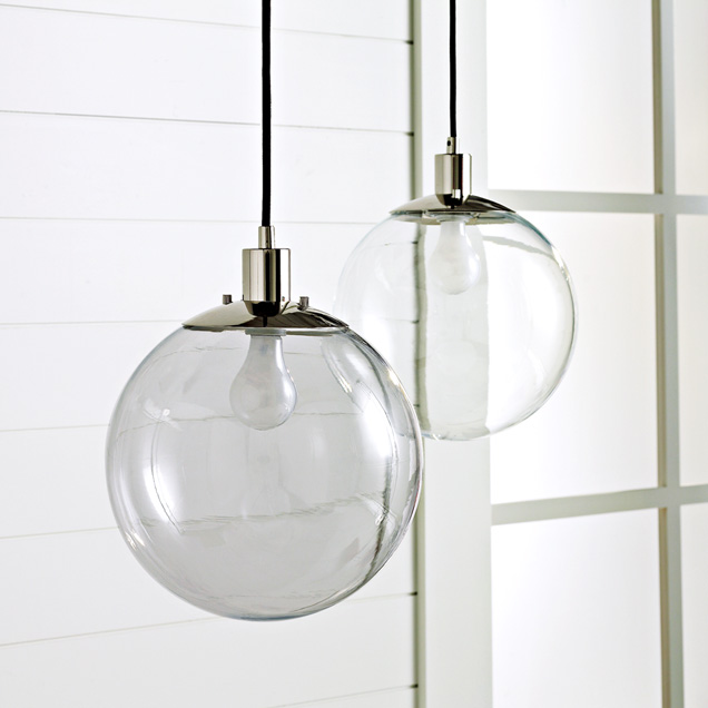 Light up your correspondence with the West Elm Globe Pendant ($129).