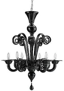 Desire/Acquire: Black Glass Chandeliers