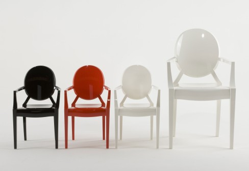 Philippe Starck introduces a kid-sized version of his crave-worthy Louis Ghost Chair. Source