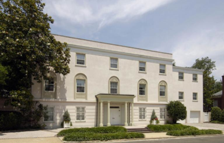 This 6-bedroom, 6-bath, $10 million, Beaux Arts beauty sits on an exclusive, two-block street in Kalorma, one of DC's most fancy, schmancy communities. Oprah can't complain about its manicured gardens, terraces, pool, and embassy-sized public rooms. Perfect for entertaining the Washington elite.