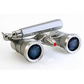 Amazon.com: Milana Optics - Opera Glasses - Broadway - With Handle and Flashlight - Platinum Finish with Silver Rings: Camera &
