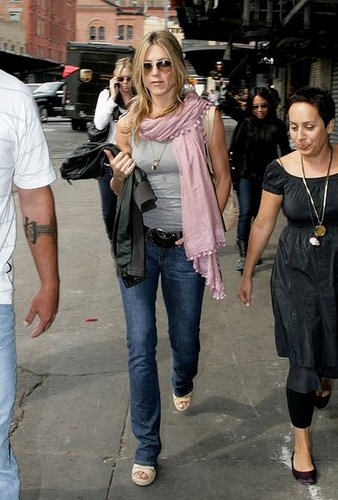 Jen - Leaving the 'Scoop' store - NY - May 14