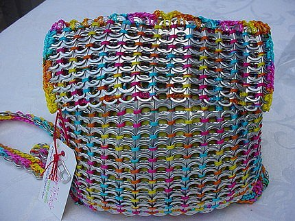 Etsy :: PopTopLady :: OOAK Multicolored Pull Tab, AKA Pop Top, Crochet Backpack
