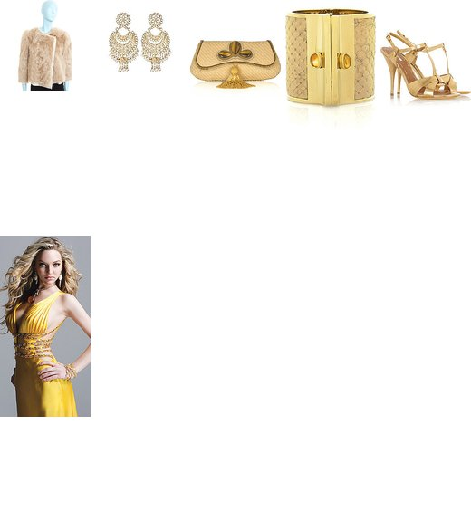 Yellow Sexy Cutout Prom Dresses by Faviana