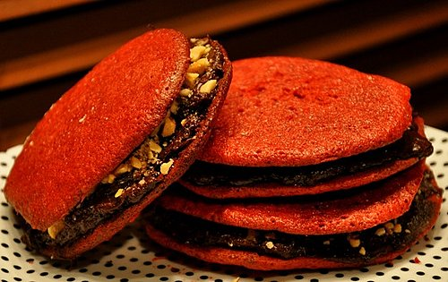 Dark Chocolate and Red Velvet Make a Scrumptious Sandwich