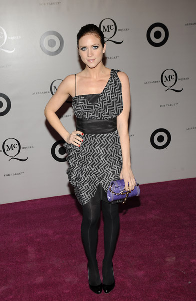 Brittany Snow in a McQ for Target dress