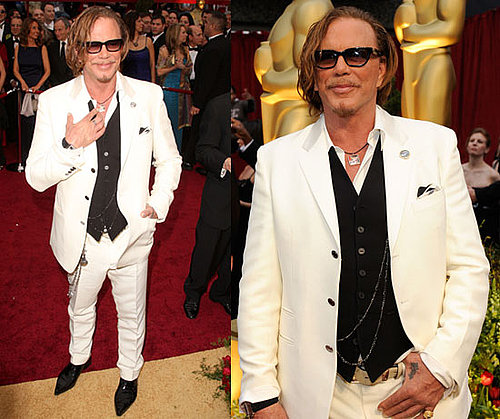 Oscars Red Carpet: Mickey Rourke