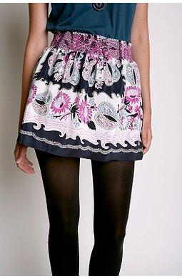 Kimchi Blue Smocked Scarf Skirt