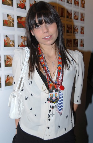 Photo of Ally Hilfiger Wearing Tribal Jewelry in NYC