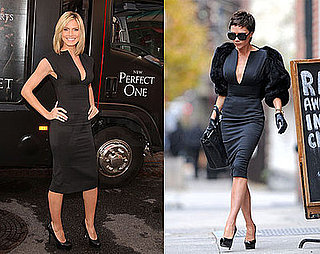 Victoria Beckham and Heidi Klum Wear the Same Victoria Beckham Collection Black Dress