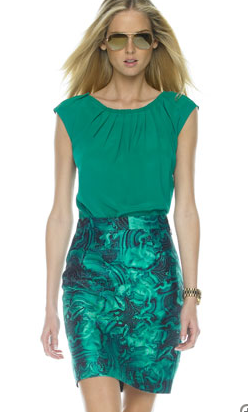 Michael Kors Malachite Print Slip Skirt ($795)