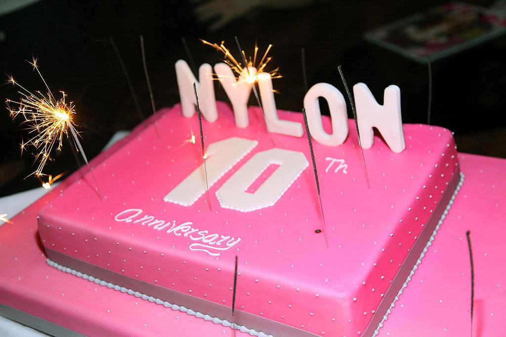 Nylon Birthday Cake