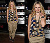 Kristen Bell Attends Armani Exchange Watch Launch Party in Phillip Lim Ikat Top and Khakis