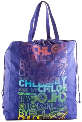 Fab Finger Discount: See by Chloe Indigo Cotton Bag