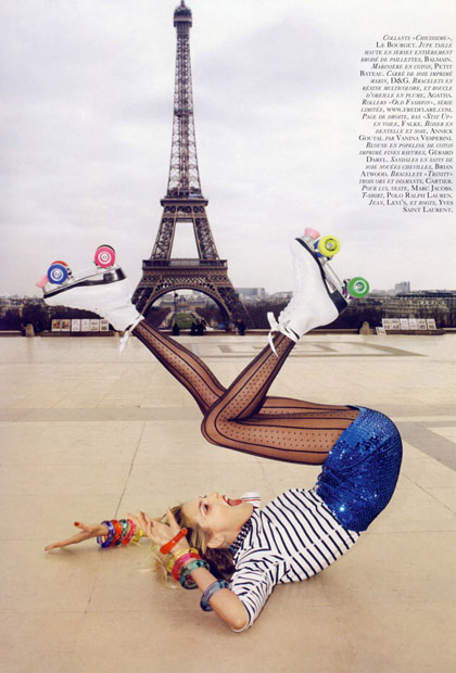 Girls on Film: Anja Rubik and Natasha Poly, Vogue Paris, June/July '09