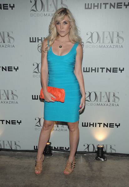 Tinsley Mortimer in Herve Leger