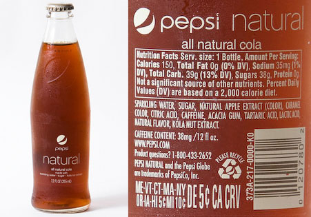 Pepsi Rolls Out New Pepsi Natural Made With Sugar