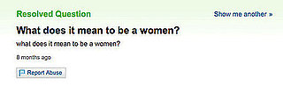 Yahoo Answers Never Fails to Amuse . . .