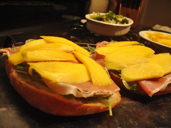 Prosciutto and Mango Panini