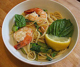 Linguine With Shrimp, Asparagus, and Basil