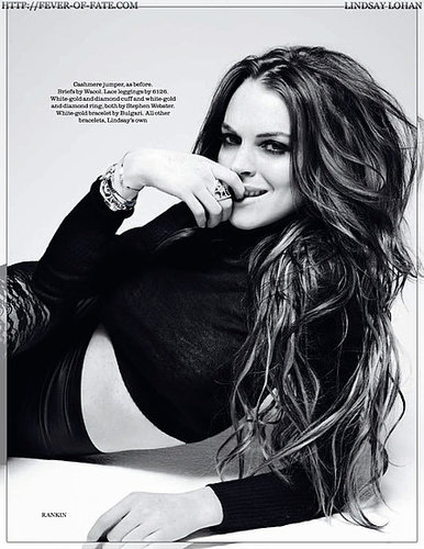 Lindsay Lohan - Elle UK August 2009