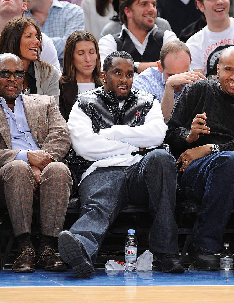 Celebs at the Knicks Game