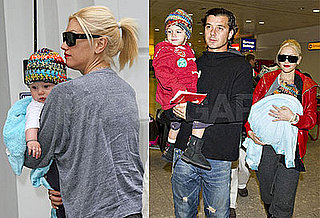 Photos of Gwen Stefani, Gavin Rossdale, Kingston Rossdale, Zuma Rossdale at Heathrow