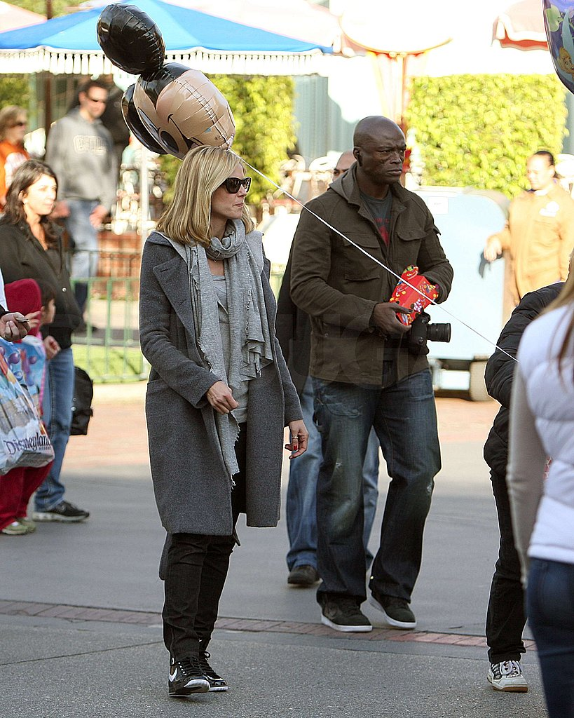 Heidi and Seal at Disneyland