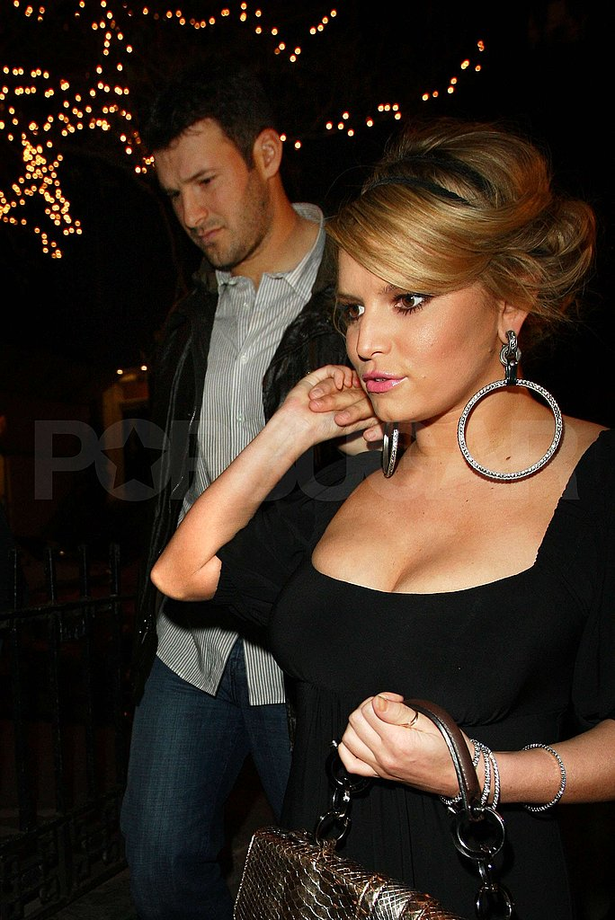 Jessica Simpson and Tony Romo in NYC