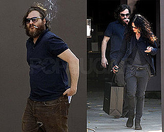 Photos of Joaquin Phoenix Smoking a Cigarette and Shopping in LA