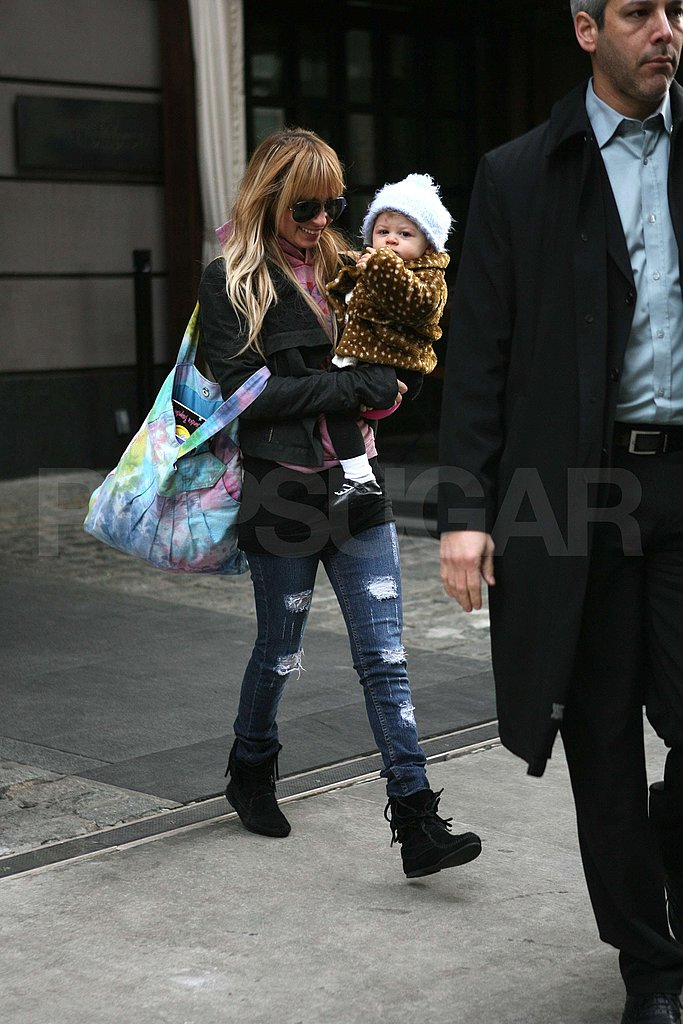 Nicole Richie and Harlow in NYC