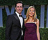 Photo of Jon Hamm and Jennifer Westfeldt at the Vanity Fair Oscar Party
