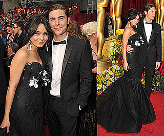 Photos of Zac Efron and Vanessa at the 2009 Oscars