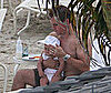 Photo of Matt Damon in the Caribbean with Daughter Gia