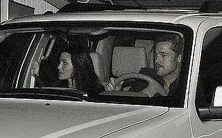 Photo of Brad Pitt and Angelina Jolie at Katsuya After Valentine's Day