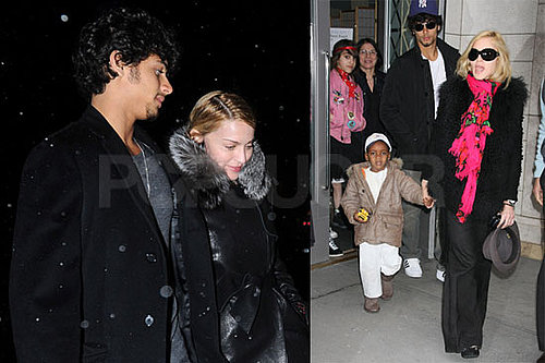 Photos of Madonna, Jesus Luz, Rocco Ritchie, Lourdes Leon, David Ritchie at Kabbalah in NYC